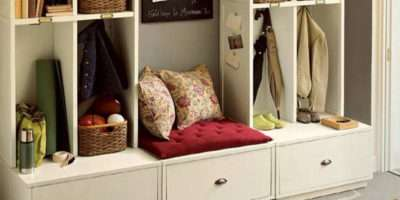White Entryway Storage Bench Drawer Stabbedinback Foyer