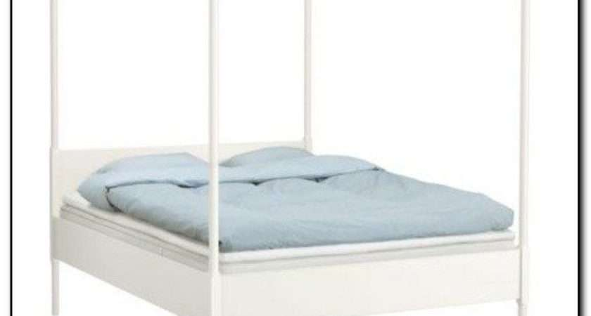 White Four Poster Bed Ikea Liverpool Merseyside