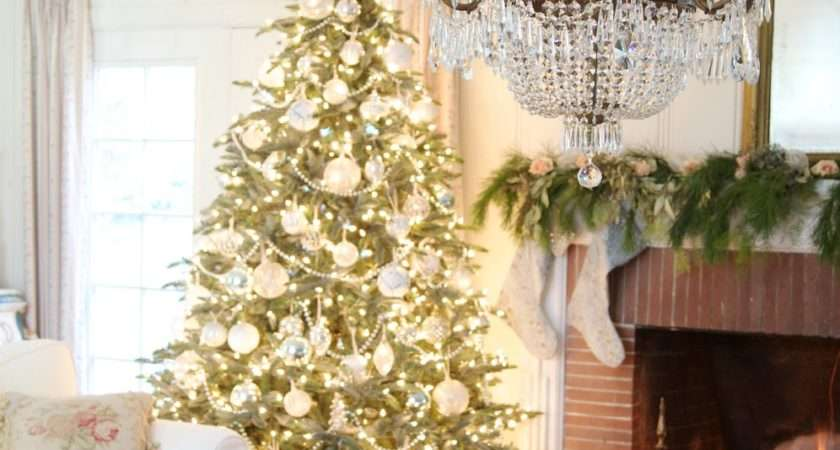White French Blue Wintry Elegance Christmas Tree