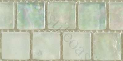 White Glass Square Tile Frosted Iridescent