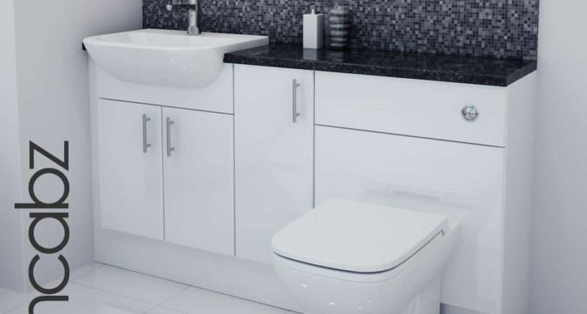 White Gloss Bathroom Fitted Furniture Ebay