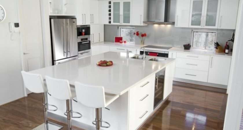 White Gloss Kitchen Decorating Ideas Concepts