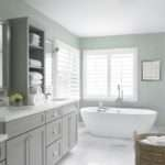 White Gray Bathroom Decor Walk Shower Showers