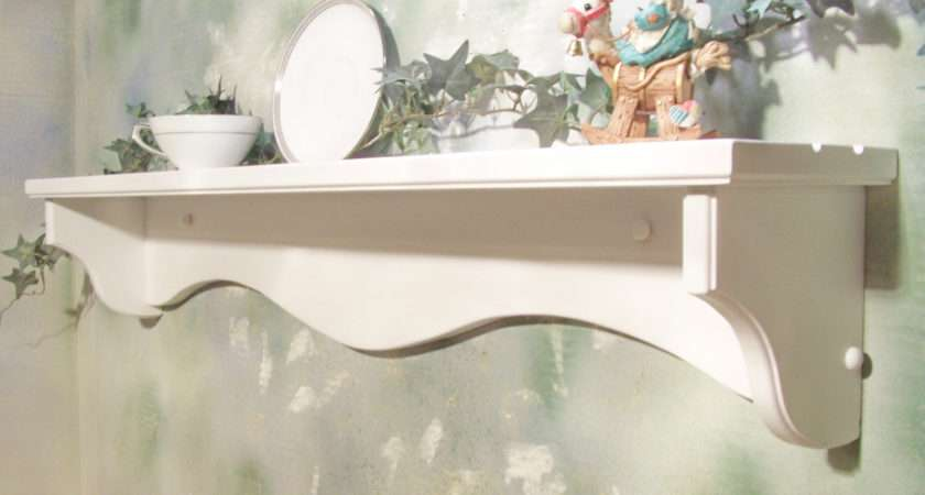 White Inch Solid Wood Wall Shelf Plate Grooves Jahnjed