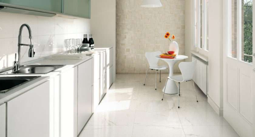 White Kitchen Ceramic Tile Textured Wall Interior Design Ideas