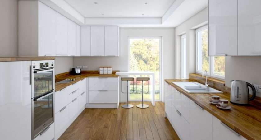 White Kitchens Gloss Kitchen Floors Pinterest