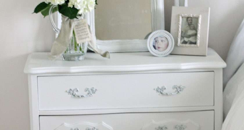 White Lacquer Dresser Bedroom Shabby Chic Bedside