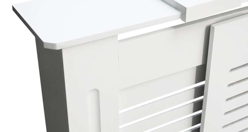 White Painted Mdf Radiator Cover Wall Cabinet Home