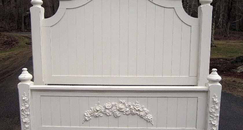 White Painted Shabby Chic Queen Bed