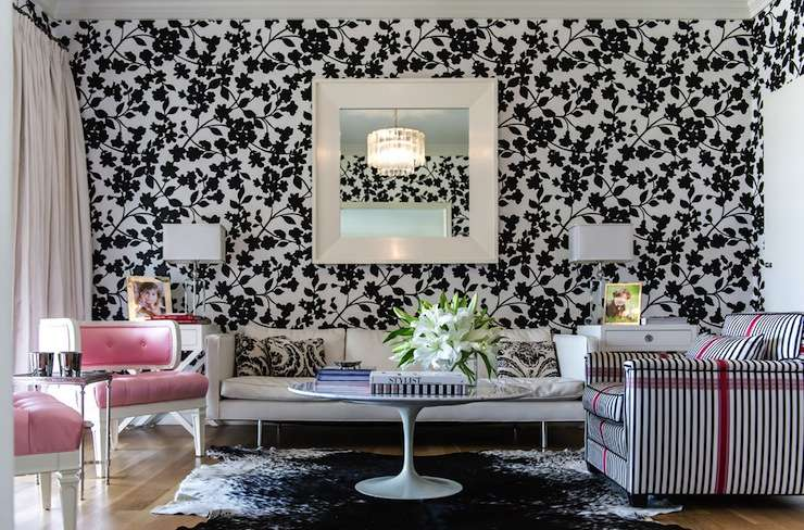 White Patterned Home Furniture Design Ideas