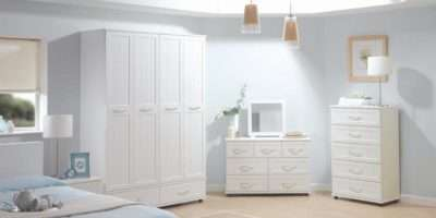 White Qualitative Furniture Bedroom Modern Interior Design Ideas