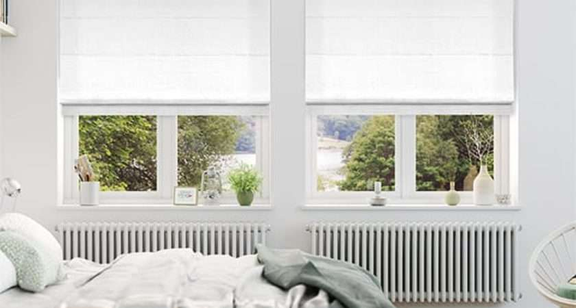 White Roman Blinds Made Measure Incredible Prices