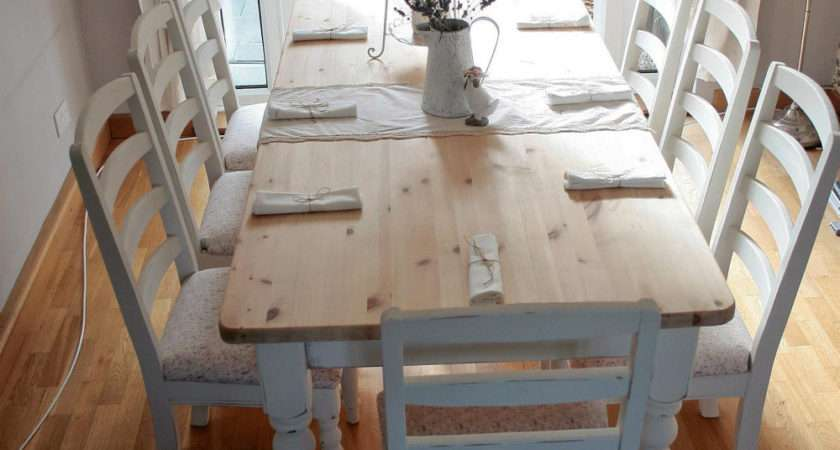 White Shabby Chic Dining Table Large Beautiful