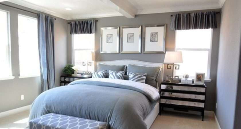 White Silver Bedroom Grey Decorate House