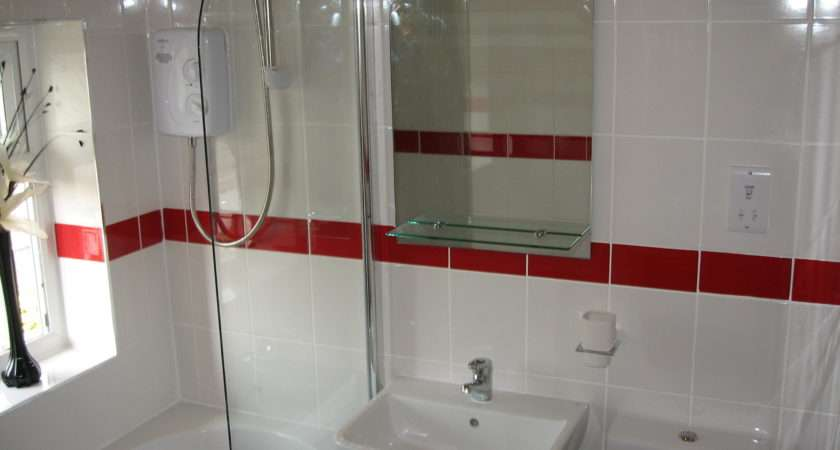 White Tiles Red Border Tile Granite Floor Series