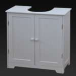 White Under Sink Basin Cabinet Cupboard Bathroom Furniture