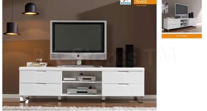 White Unit Sleek Chromed Legs Plasma Stands Pinterest