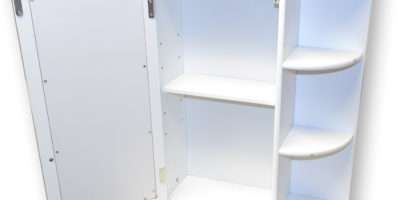 White Wooden Indoor Wall Mountable Bathroom Cabinet Shelves