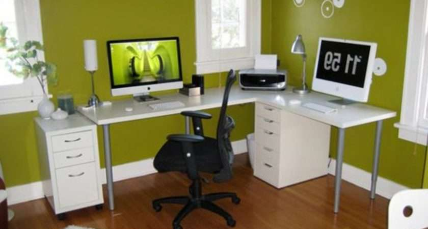 White Workbench Workstation Design Ideas Office Decoration Themes