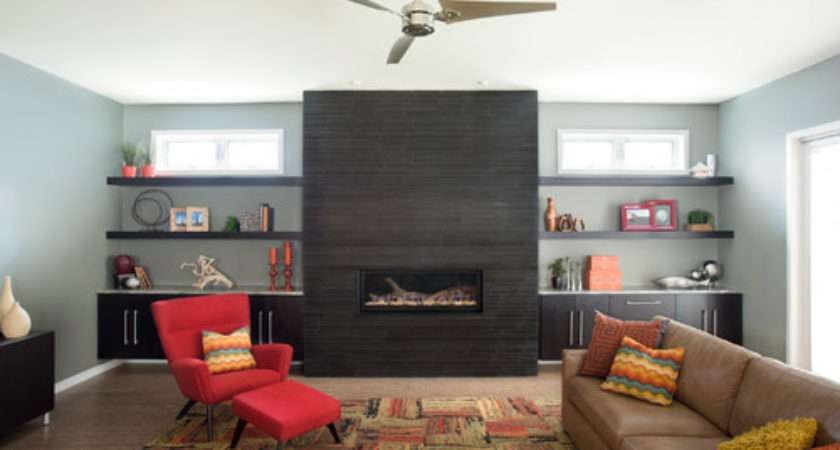 Why Built Cabinets Work Flanking Fireplace