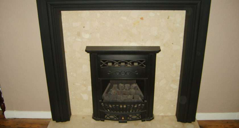Wickes Cast Iron Coal Effect Gas Fire Marble