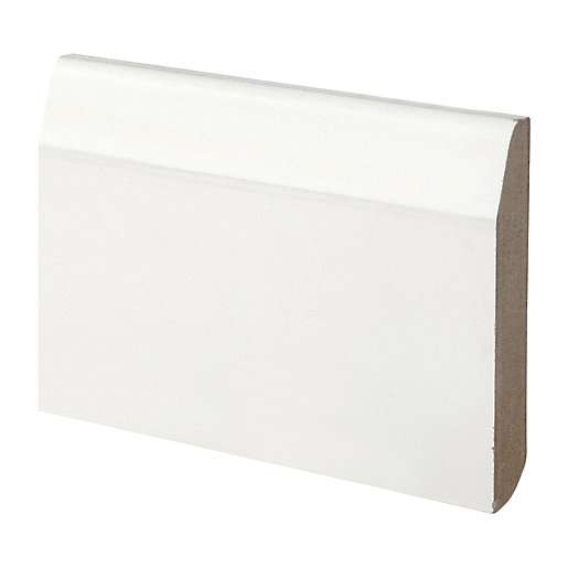 Wickes Dual Purpose Chamfered Bullnose Primed Mdf Skirting