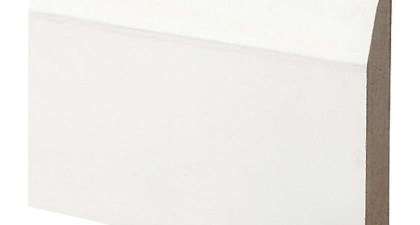 Wickes Dual Purpose Primed Mdf Bullnose Chamfered Skirting