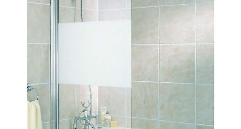 Wickes Half Bath Screen Frosted Silver Effect Frame