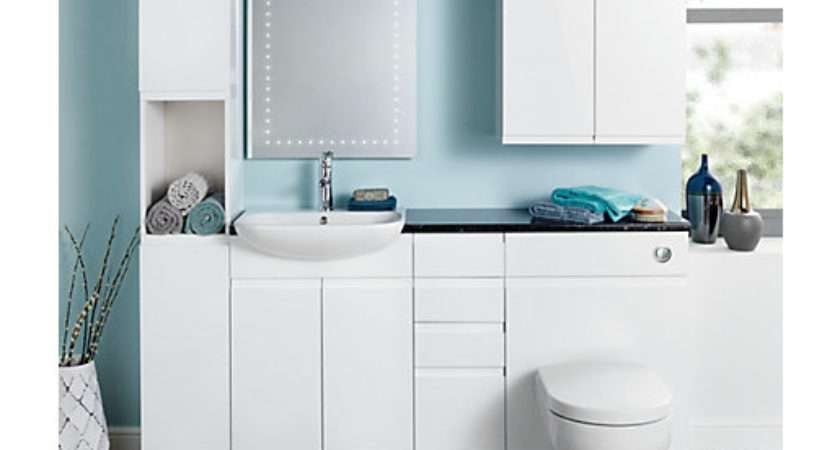 Wickes Hertford White Gloss Fitted Vanity Unit