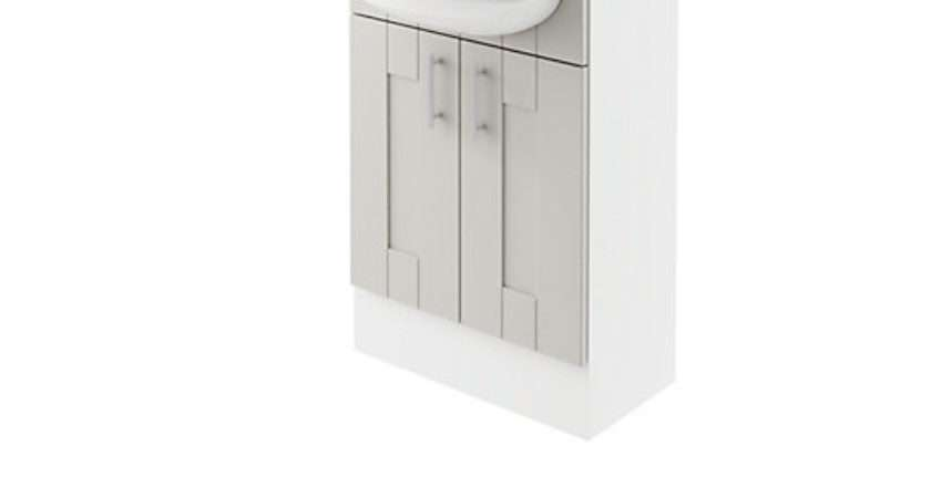 Wickes Vermont Grey Fitted Vanity Unit