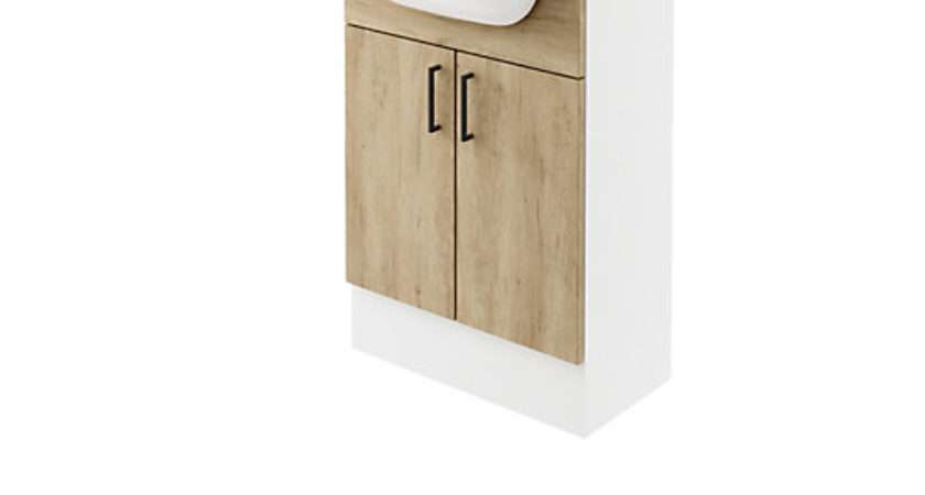 Wickes Vienna Oak Fitted Vanity Unit
