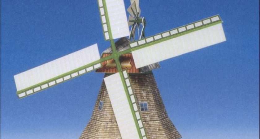 Windmill Model Kit Made Germany Diy Paper
