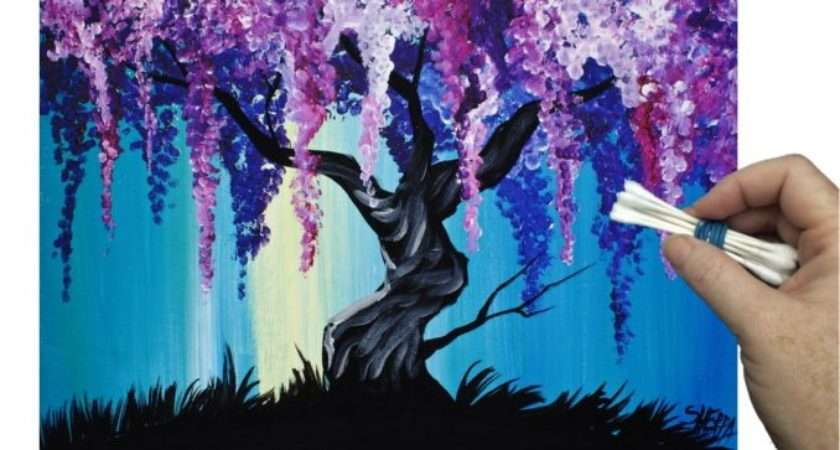 Wisteria Willow Tree Tip Painting Technique