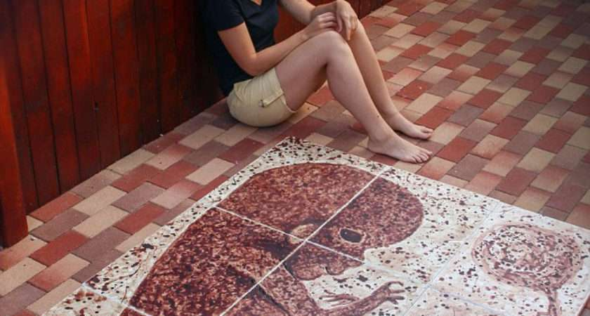 Woman Paints Baby Using Only Her Period Blood