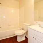 Wood Floors Bathroom Dominion Management