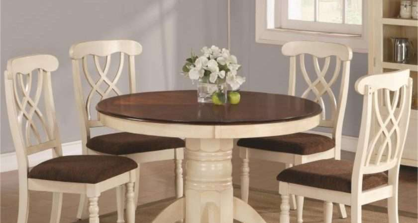 Wood Round Table Chairs Casual Dining Room Furniture