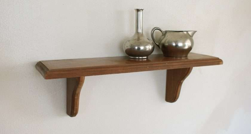 Wood Wall Shelf Small Display Shelving Wooden Hanging