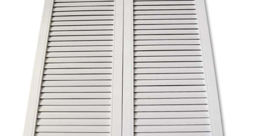Wooddoor Internal White Painted Cafe Style Ranch Louvre