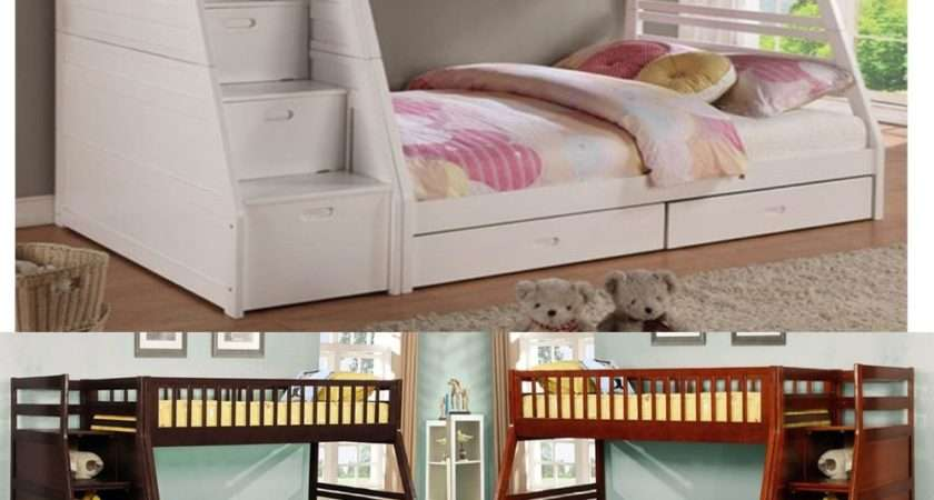 Wooden Bunk Bed Twin Solid Wood Loft Bunkbed Kids