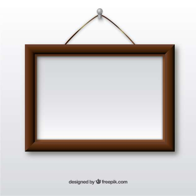 Wooden Frame Hanging Wall Vector