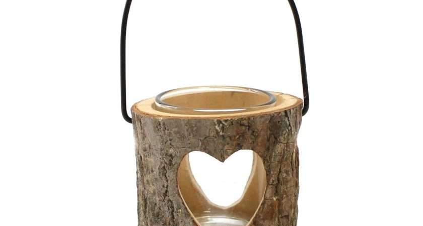Wooden Heart Tea Light Holder Hobbycraft