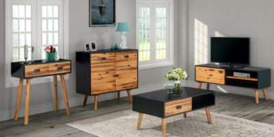 Wooden Living Room Furniture Set Sideboard Console Coffee