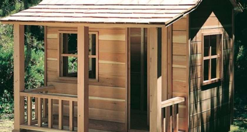 Wooden Playhouse Plans Elevated Build