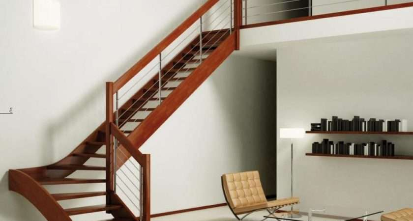 Wooden Staircase Ideas Shaped Model Privyhomes