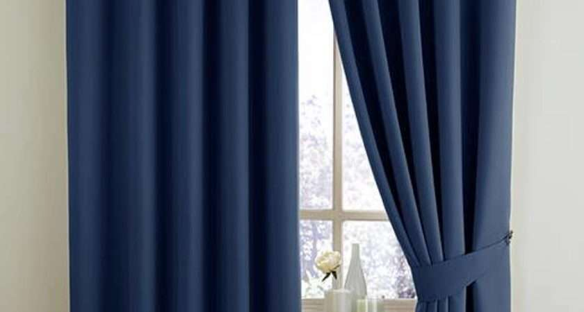 Woven Blackout Thermal Eyelet Lined Curtains