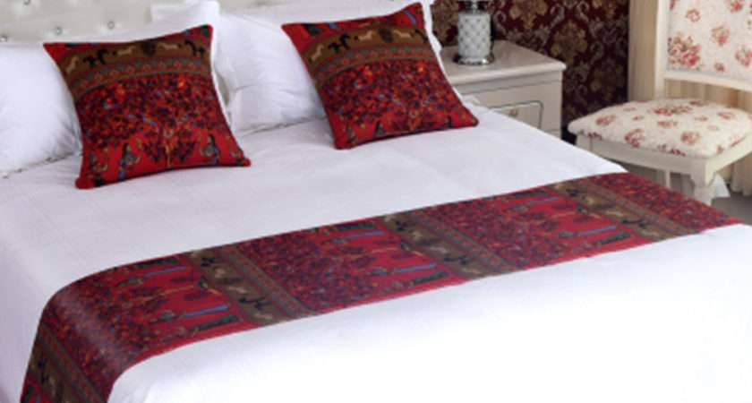 Yazi Bed Runner Bedding Tail Towel Mat Home Hotel Fit
