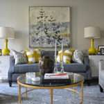 Yellow Blue Rooms Transitional Living Room Meredith Heron