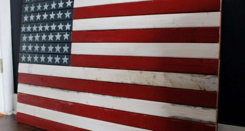 Yellow Cape Cod Make Diy Rustic American Flag