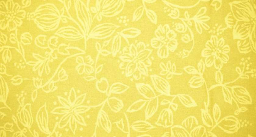Yellow Fabric Floral Pattern Texture High
