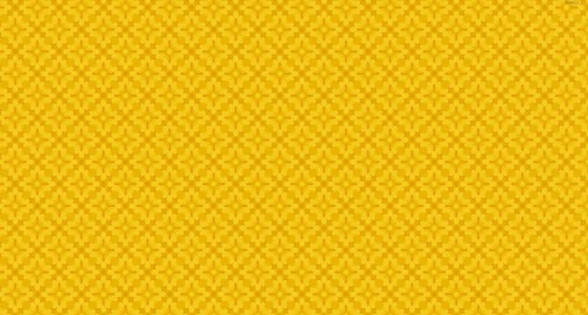 Yellow Floral Pattern Abstract
